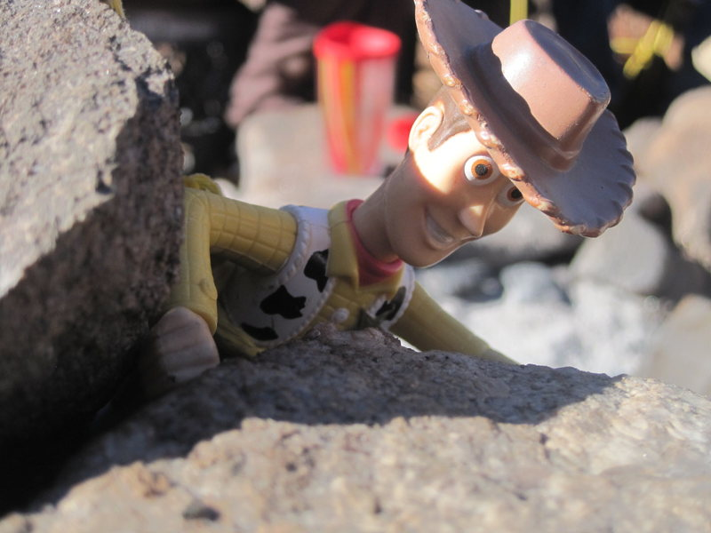 Rock Climbing Photo: woody getting fists in escalante....