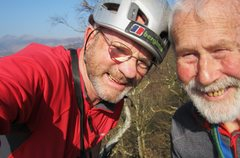 Rock Climbing Photo: Two elderly chaps out on the rocks .March 2014.. E...