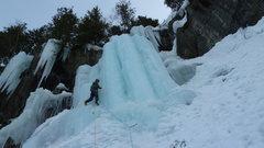 Rock Climbing Photo: Ian Hanson leading Kjøkkentrappa