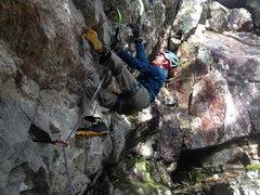 Rock Climbing Photo: Ian Hanson leading White Russian