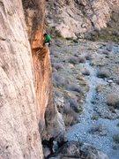 Rock Climbing Photo: Rob on point, Amber belaying on K-8