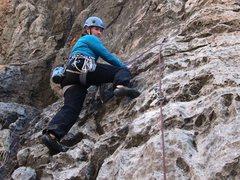 Rock Climbing Photo: Alexis gettin' 'er Liquid Kitty on