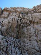 Rock Climbing Photo: Gettin' a lap on the Liquid Kitty...near the top