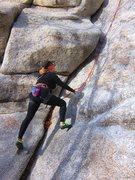 Rock Climbing Photo: Cynthia ready to go old school up the Short Corner...