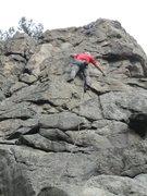 Rock Climbing Photo: Greg Hand on FA of Tweety.
