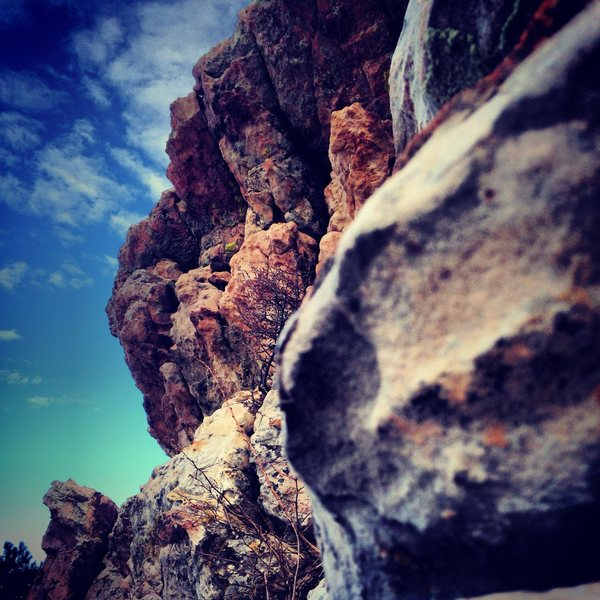 Bouldering in the Land of Overhangs, Rotary Park, Fort Collins.