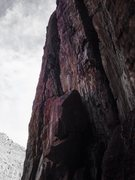 Rock Climbing Photo: Sea of Lichen, 5.8, Crystal Wall.