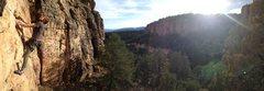 Rock Climbing Photo: A photo I snapped of sir Riley Reed climbing at Ca...