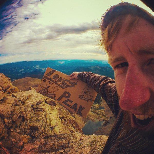 Rock Climbing Photo: The Summit of Longs Peak.
