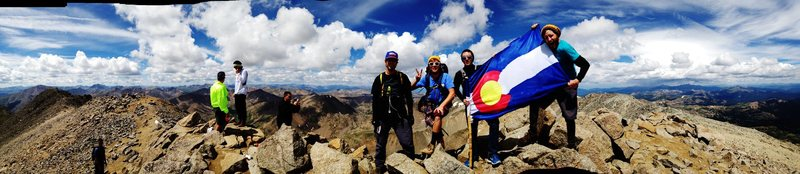 Summit of Mt. Massive! Traveled with a great team. Alex Travnicek, Riley Reed, Brooks Heckart and I.