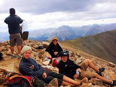 Rock Climbing Photo: Summit of Mt. Elbert with Riley Reed and Chris You...