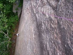 Rock Climbing Photo: Looking down pitch 1.