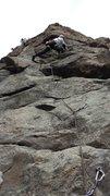 Rock Climbing Photo: Paul Heyliger halfway up.