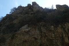 Rock Climbing Photo: 'The Wheel' is the steep crack splitting the summi...