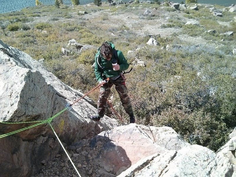 Rock Climbing Photo: Rappelling at Duncan's Ridge 1