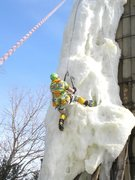 Rock Climbing Photo: ice is still 4 ft thick, temps in 50's