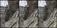 Rock Climbing Photo: lil sequence of the roof pull :)
