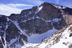 Rock Climbing Photo: long's peak east face march 21, 2014