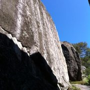 Rock Climbing Photo: A steep blank face.