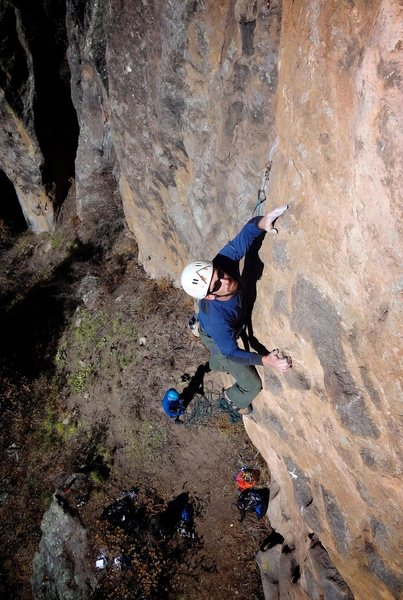Rock Climbing Photo: Great position and rock on Lightbulb Not Included....
