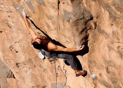 Rock Climbing Photo: Still cruxing on Schwing! but almost to easier gro...