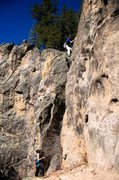 Rock Climbing Photo: Nearing the end of the tricky climbing. March 2014...