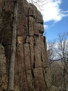 Rock Climbing Photo: Moondog Delight follows the crack just left of thi...