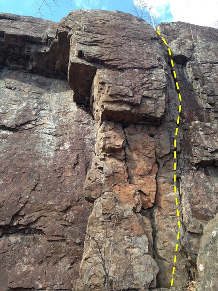 Rock Climbing Photo: Night Shift follows the crack system on the right ...