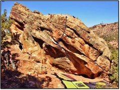 Rock Climbing Photo: Lisenby Legacy problem beta.