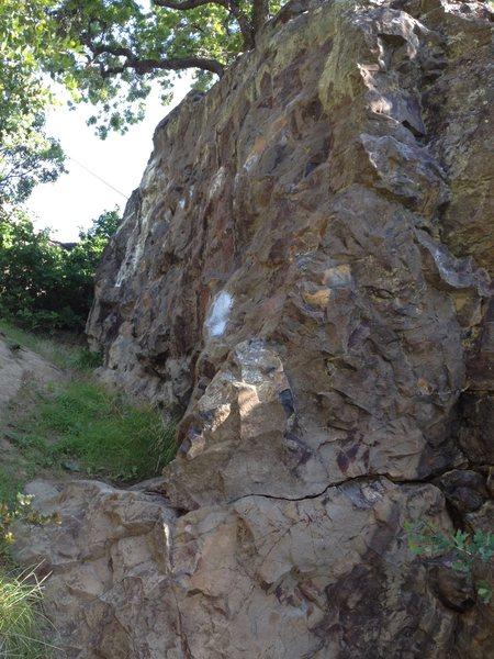 Rock Climbing Photo: The right arete.