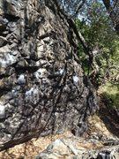 Rock Climbing Photo: Heavy Metal start at the rightmost chalk splotches...