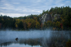 Rock Climbing Photo: An amazing fall morning at the pond, mid-October 2...