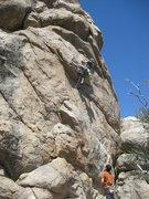 Rock Climbing Photo: Ben surmounts the first overhang.