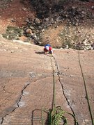 Rock Climbing Photo: Following the last pitch (finger crack) of Birdlan...
