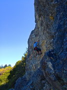 Rock Climbing Photo: Some very nice moves on the steep West Face route ...