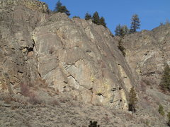 Rock Climbing Photo: South end of N Central Slab