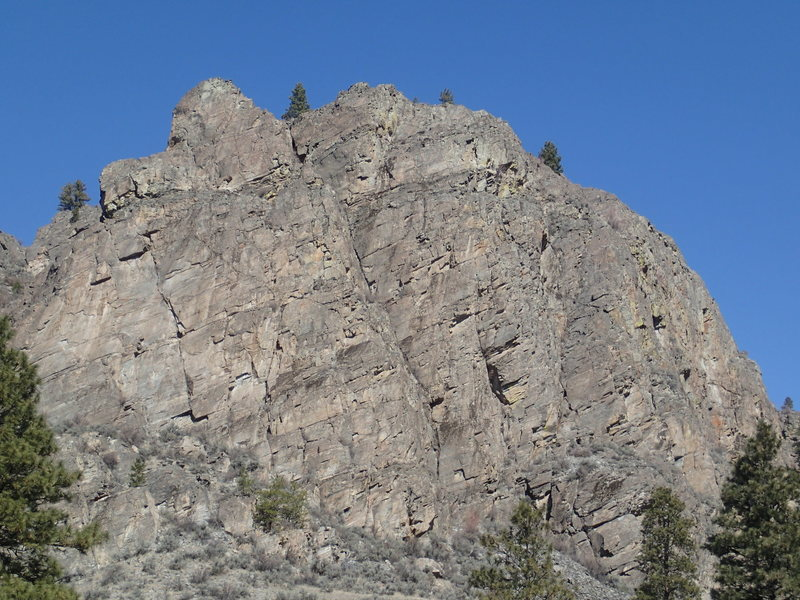 Rock Climbing Photo: Right side of the SW Buttress from the South..