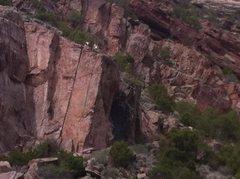 Rock Climbing Photo: New project!! Complete!!! 5.9 ish Alcova