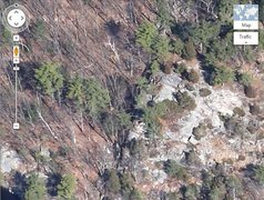 Rock Climbing Photo: Again google maps, zoomed in. You see the top of t...