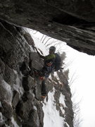 Rock Climbing Photo: Leading the rock portion of Lower Hitchcock.  It g...