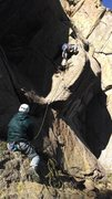 Rock Climbing Photo: If you can reach right, it's not as hard as it loo...