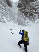 Rock Climbing Photo: Wallowing through deep snow en route to 'The Morat...