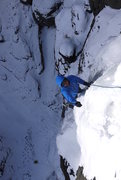 Rock Climbing Photo: Just past 'Stinger' on the first pitch of 'Slow Tu...