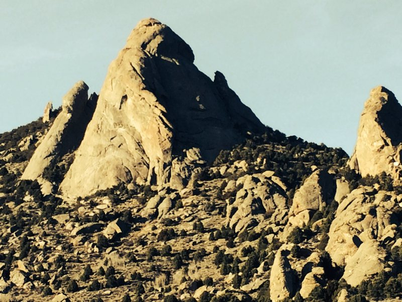 Rock Climbing Photo: Steinfels Dome from Circle Creek Trailhead with Fe...