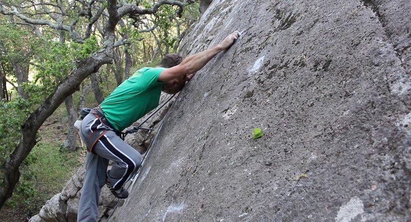 Rock Climbing Photo: FA Namaste 5.12a Aaron Stireman