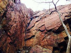 Rock Climbing Photo: Traprock Corner