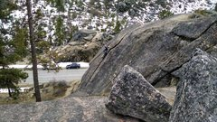 Rock Climbing Photo: There's some snow still but the lower crags appear...
