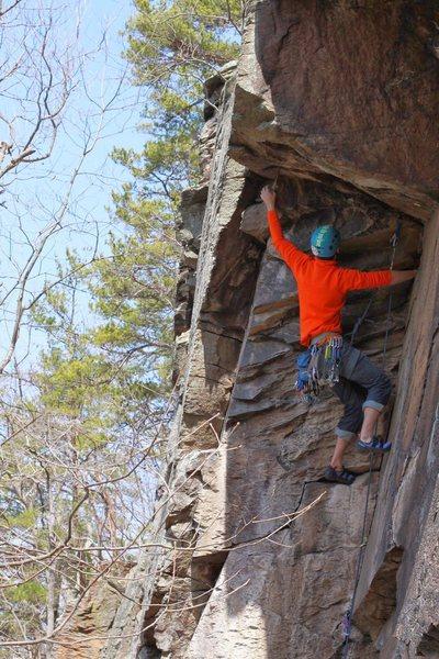 Rock Climbing Photo: Below the roof