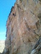 "Rock Climbing Photo: Jeremy milking a ""nylon-shakeout"" on Sto..."
