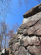 Rock Climbing Photo: Near Miss follows the arête.
